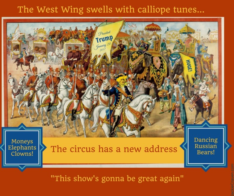 Historic circus ad altered to include Donald Trump on a horse
