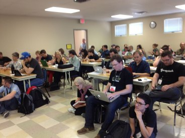 WordCamp sessions were standing room only!