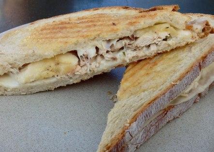 Chicken, cheese and banana toast