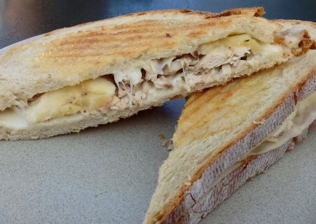 Chicken, cheese and banana toast