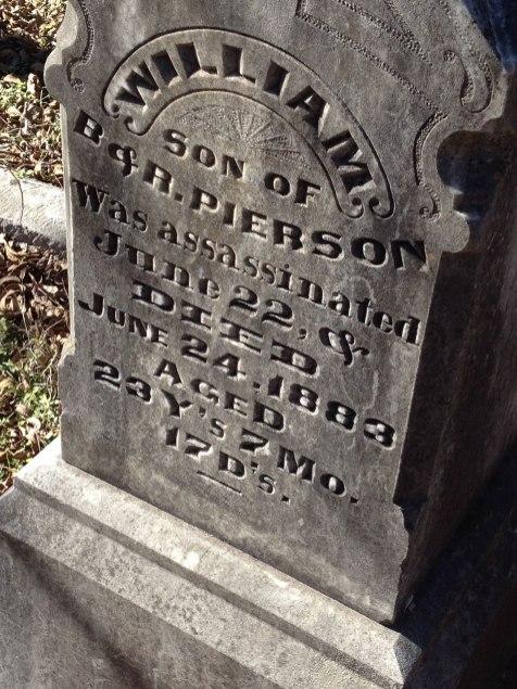 headstone for pierson