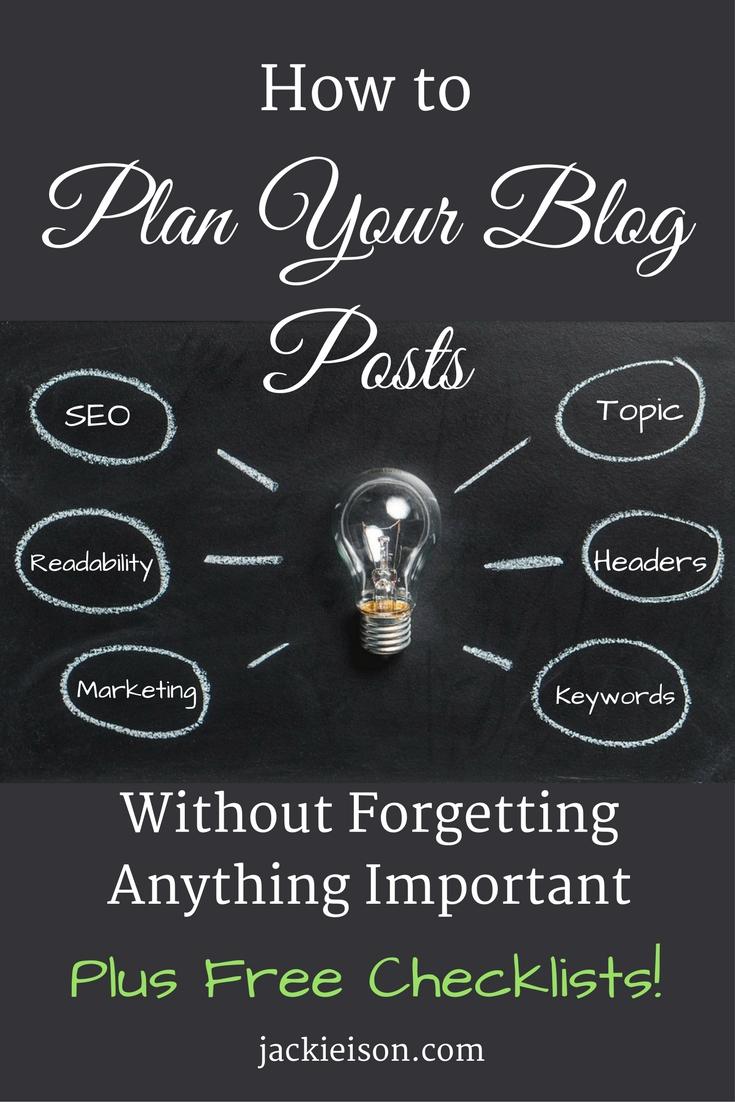 plan your blog posts