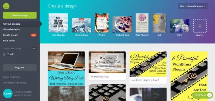 create blog graphics