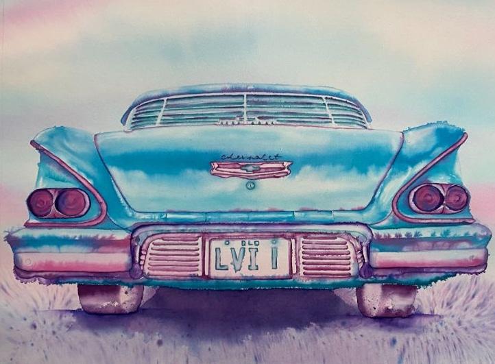 "Original Painting ""Chevy"""