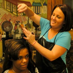 "Tracey Walters loves the complexity and versatility that comes with working with her diverse college and young professional clientele.  She enjoys the wide range of color choices and cuts her clients encourage from her — ""I always tell them; take advantage of my knowledge, experience and eye for style — that's what I'm here for!"" Tracey has worked at many successful salons throughout the Durham area over her 16 years as a stylist. Dedicated to consistently continuing her professional education, her goal is to give you the look you LOVE!"
