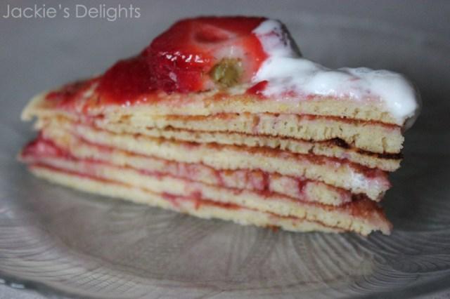 Strawberry dessert pancake.2