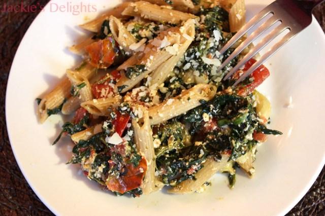 spinach tomato pasta.2