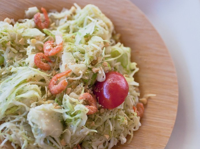 green-papaya_less-salad with dried shrimp made with cabbage