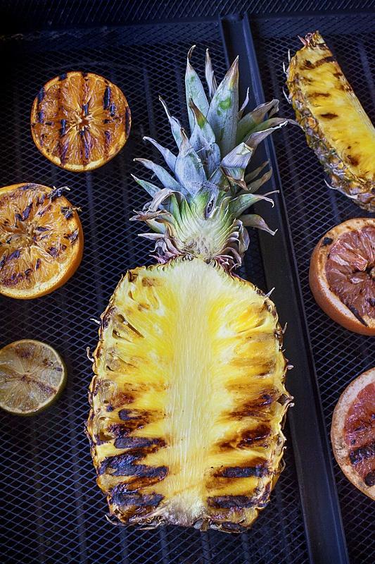 Grilling fruit for the muddler cocktail