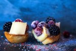 Brie Crostini with Sparkling Cranberries by Jackie Alpers