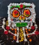 Dia des los Muertos Haunted Halloween Gingerbread house