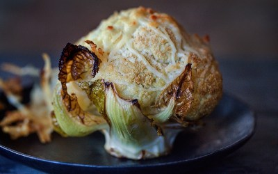 Roasted Whole Baby Cauliflower with Herbs & Parmesan