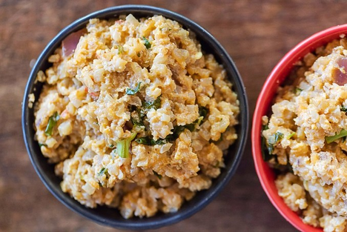 recipe for coconut thai fried rice made with cauliflower