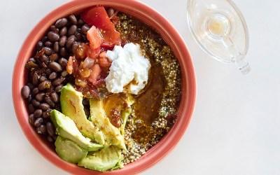 Quinoa Burrito Bowl With Chipotle Lime Vinaigrette