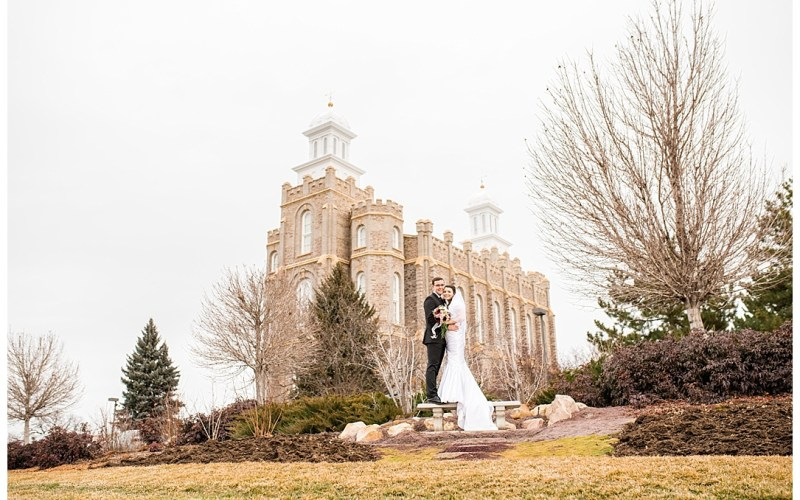 Alexander & Megan | Logan Temple | Logan Utah Wedding Photographer