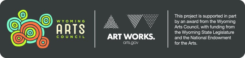 Wyoming Arts Council and Art Works NEA logos