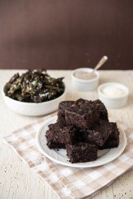 Chocolate Kale Chips and Brownies Greens 24/7 Vegan Recipes