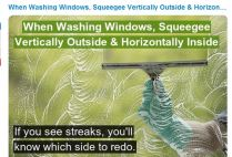 squeegie windows