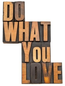 do what you love in wood type