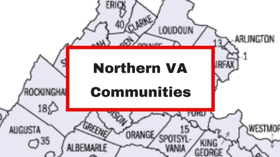 northern va map counties