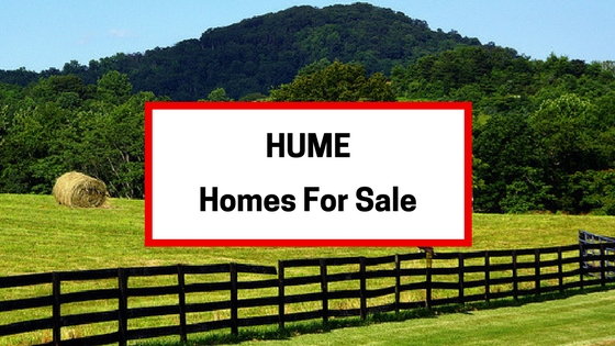 hume va homes for sale