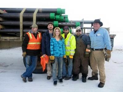 Greg, Jack, Lisa, Roy, Hugh & Alex in Prudhoe Bay