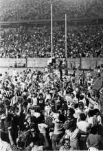 Aftermath of the East Carolina victory over N.C. State at the 1984 game in Raleigh.