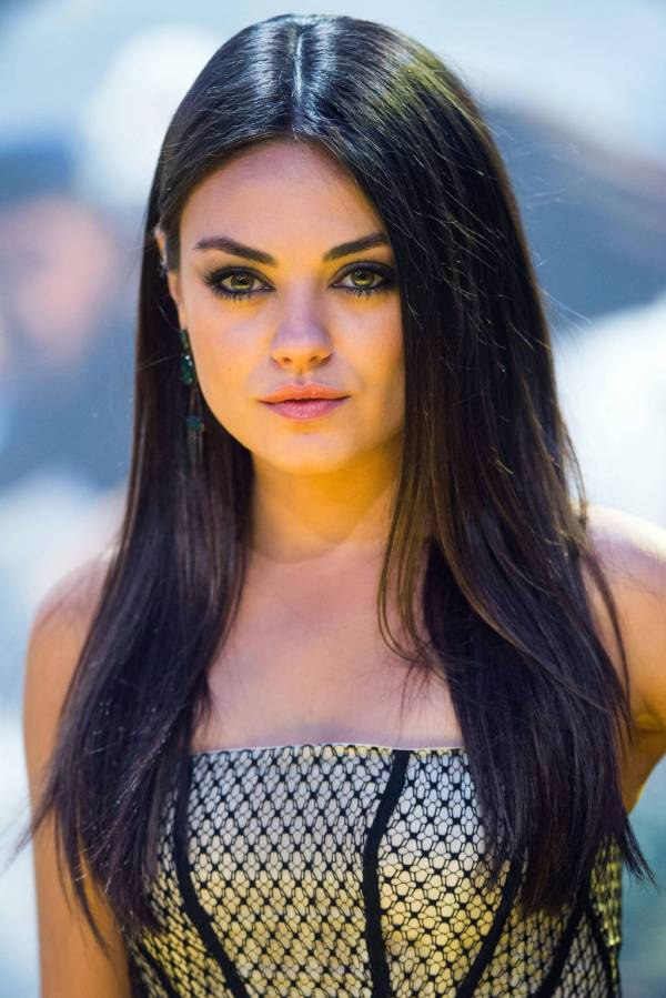 Mila Kunis Black Hair Brown to Dark