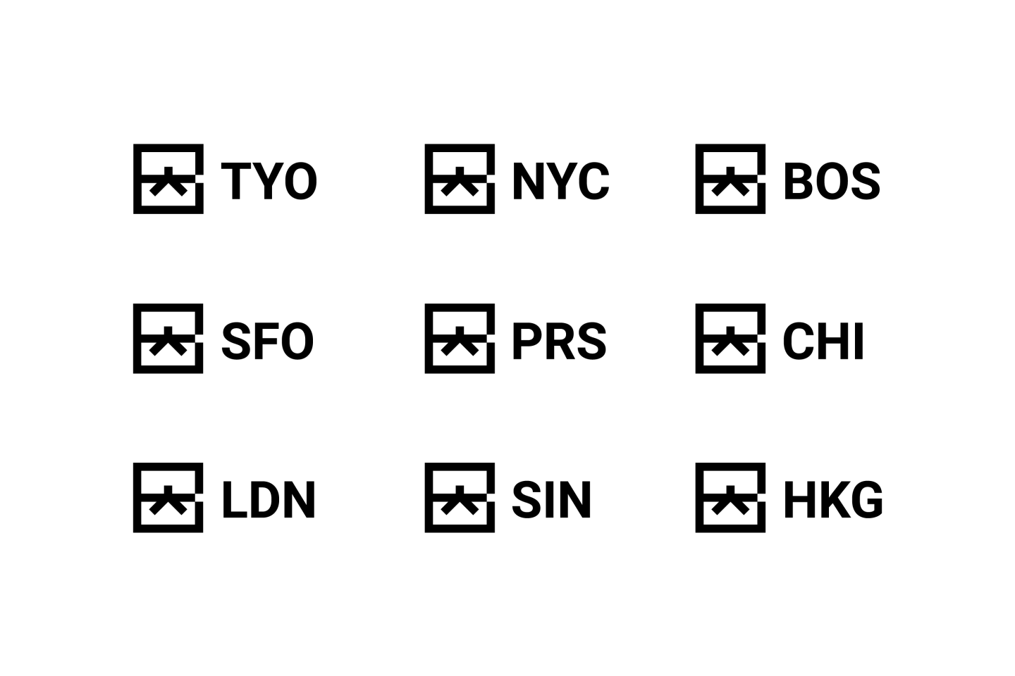 Google Brand Black Belt Location Logos