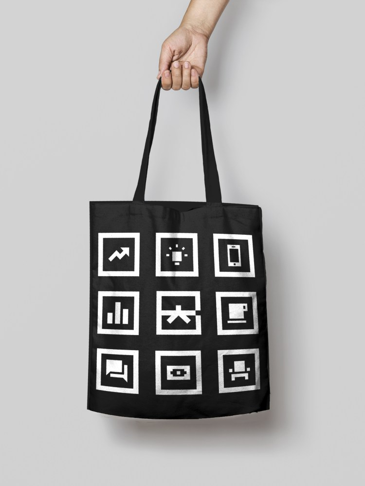 Google Brand Black Belt Tote Bag