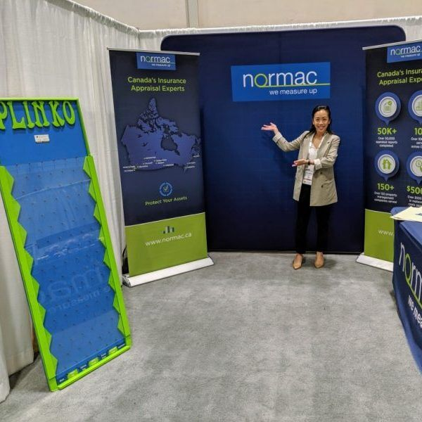 Example of a company using the Plinko at their tradeshow booth in Toronto