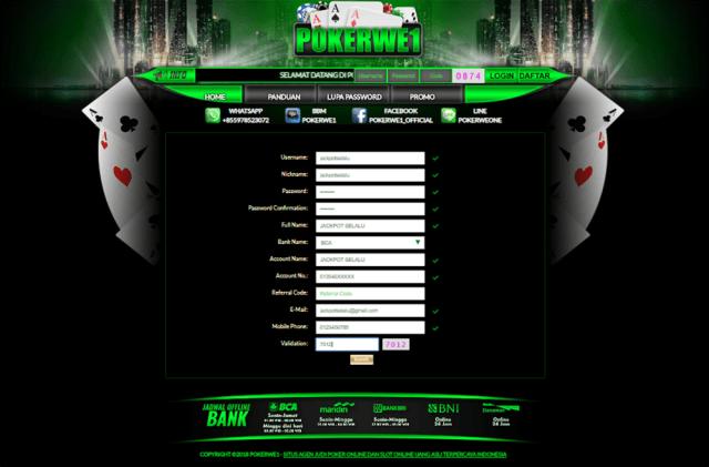 Cara Register di Situs POKERWE1
