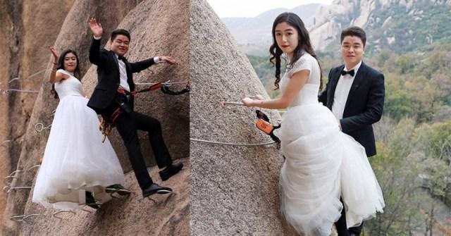 Pernikahan Unik Di Atas Gunung