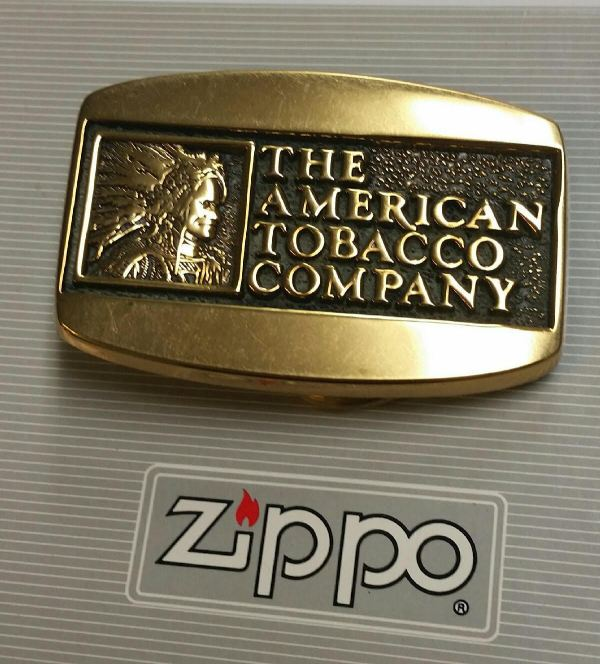 Zippo American Tobacco Compay Belt Buckle And Antique