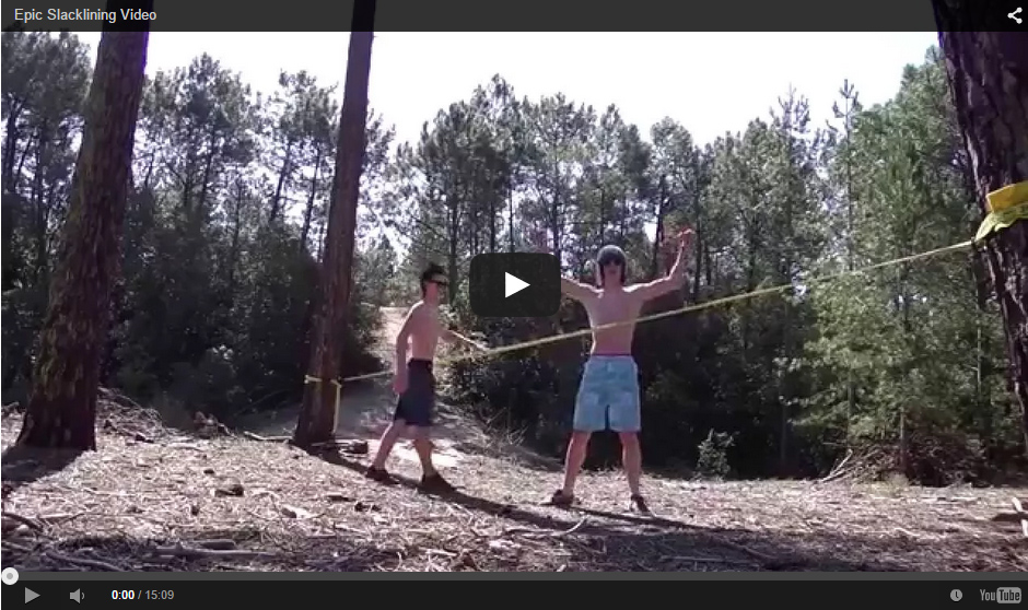Epic Slacklining Video