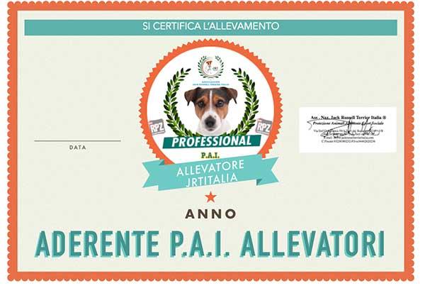 certificato-pai P.A.I. Allevatori
