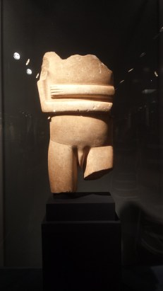 A male Cycladic figure