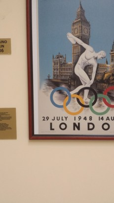 The poster from the 1948 London Olympics