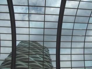 The Wave apartments through Naicon Centre windows.