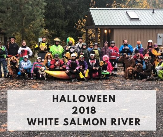 Halloween Paddle on the White Salmon 2018