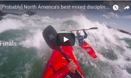 Montreal Eau Vive Kayak competition round up video.