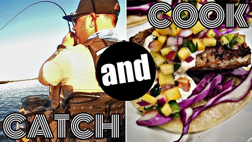 KAYAK FISHING REDFISH CATCH&COOK!!