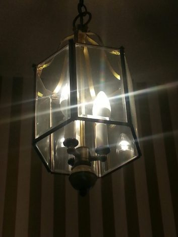Pendant with LED candelabra bulbs
