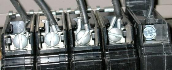 Aluminum wire on breaker terminals