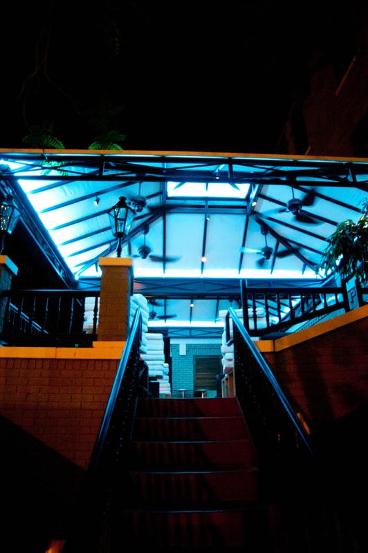 business patio exterior led custom commercial lighting