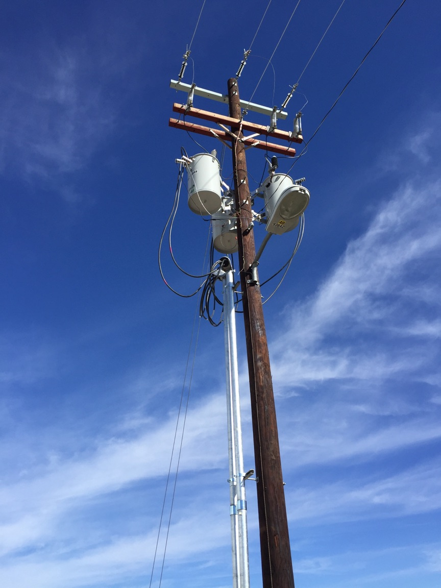power pole light led security mast weatherhead electrical commercial construction