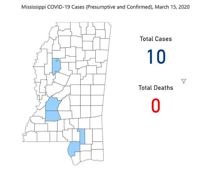 URGENT: Two Hinds County Cases of COVID-19 Confirmed Today, 10 ...