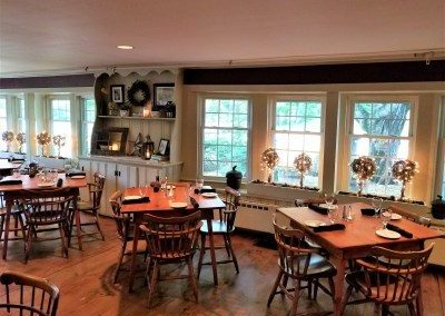 Dining at Christmas Farm Inn and Spa