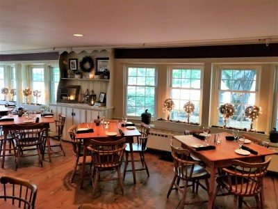 Dining at Christmas Farm Inn and Spa