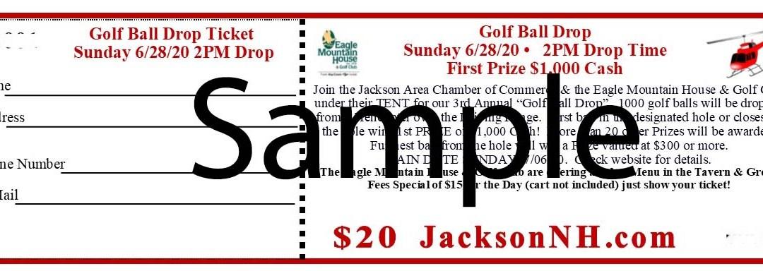 Golf Ball Drop Ticket